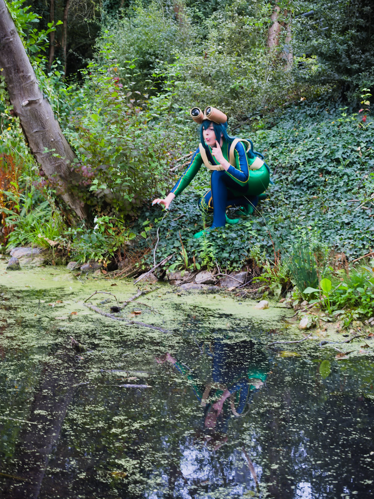 related image - pp/retouches/Shooting Tsuyu Asui - My Hero Academia - Enaelle - Parc Du Heron - Lille -2020-08-02- P2222031