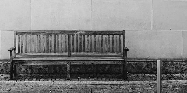 Garden, wall,bench , pole