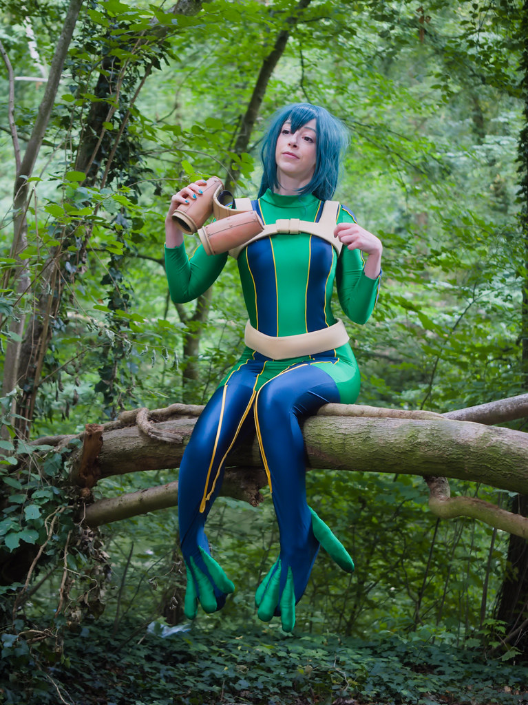 related image - pp/retouches/Shooting Tsuyu Asui - My Hero Academia - Enaelle - Parc du Heron - Lille -2020-08-02- P2222025