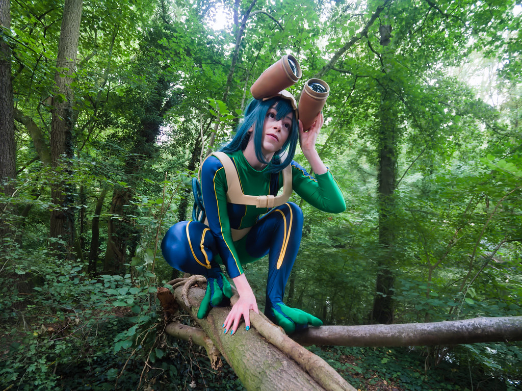 related image - pp/retouches/Shooting Tsuyu Asui - My Hero Academia - Enaelle - Parc du Heron - Lille -2020-08-02- P2222017