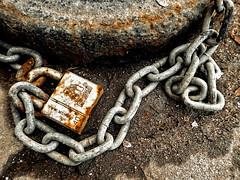 Chain and rusty lock