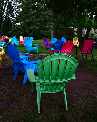 Chairs outside 'Grampa Tony's', Madeline Island