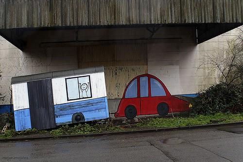 """Special Car"", Street Art Ghent, Belgium"