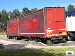 (ex Norbert Dentressangle) Renault Premium 460 DXi Tandem Curtain Sider - France - Photo of Saint-Girons-d'Aiguevives