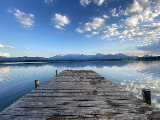 Photo:Hopfen am See - An Alps view from the  landing stage at the day. By ANBerlin [Ondré]