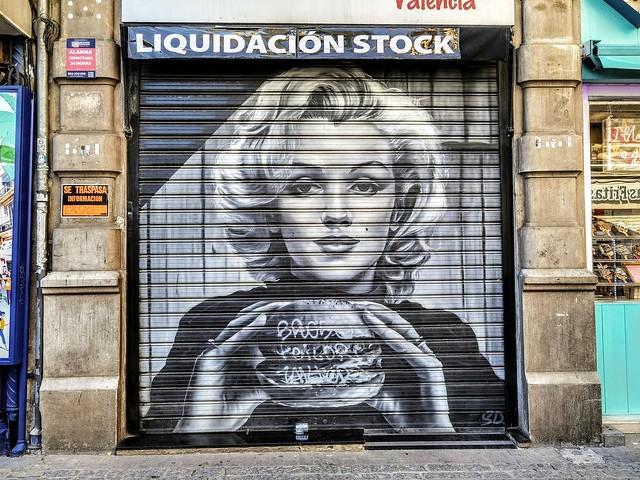 Photo:Arte Urbano en Valencia - Museo Abierto 24 horas y 365 días al año - Marilyn Monroe By Antonio Marín Segovia