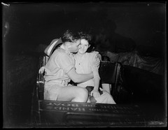 Couple photographed at Luna Park using an infra-red camera, 1943, Ivan Ives
