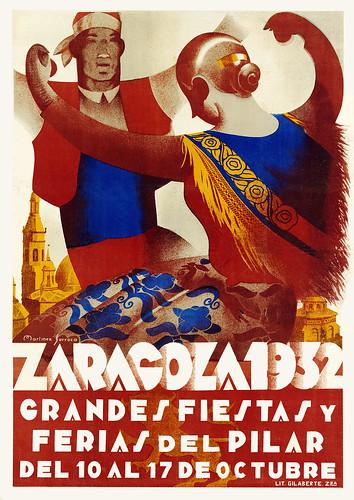 MARTINEZ SURROCA. Zaragoza, Grandes Fiestas y Ferias del Pilar. 1932