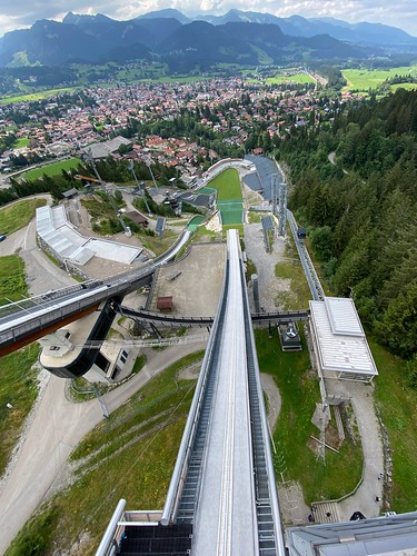 "Oberstdorf - Sky or Ski jumping into the heaven. ☆ ""Thanks for the Flickr explore"""