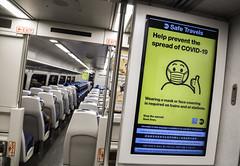 MTA Officials Distribute Masks at LIRR Jamaica Station