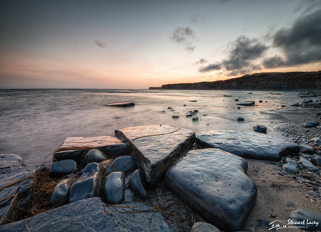 Dusk at Kimmeridge Bay