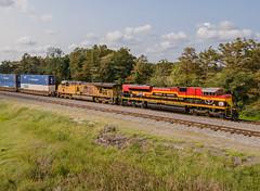 KCS 4009 (SD70ACe) UP Train:IMNMX-14 Gavin, Arkansas