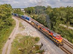 KCS 4009 (SD70ACe) UP Train:IMNMX-14 Hulbert Jct. West Memphis, Arkansas