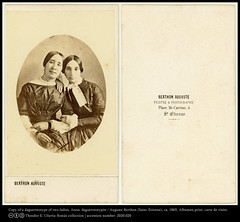 Two affectionate ladies: copy of a daguerreotype