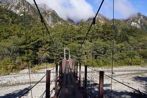 Shinmura Bridge, Kamikochi, Nagano, Japan