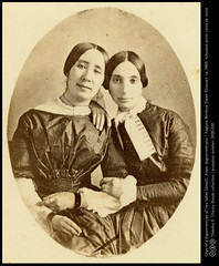 Two affectionate ladies: copy of a daguerreotype (detail)