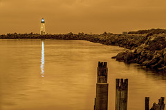 Walton Lighthouse Under a Smokey Sky 2