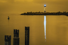 Walton Lighthouse Under a Smokey Sky