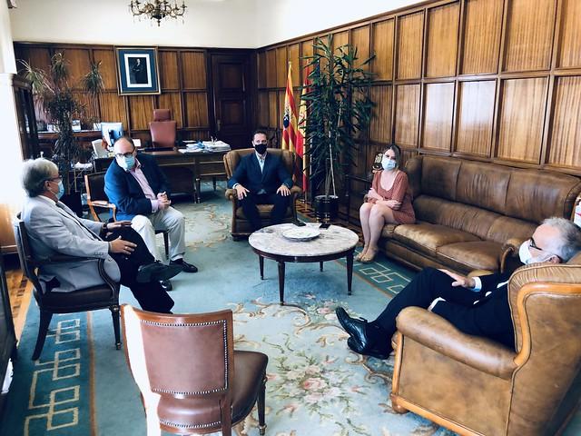 Visita a Teruel: Subdelegado del Gobierno y equipo