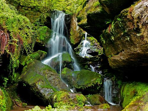 Der Lichtenhainer Wasserfall - The Lichtenhain waterfall