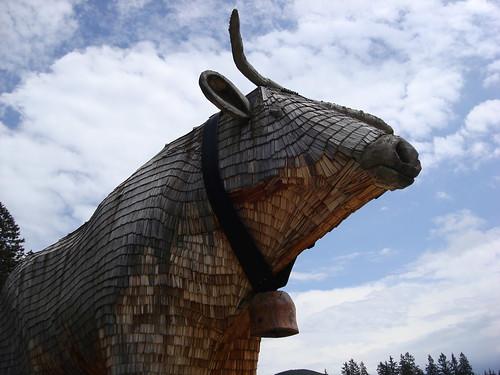 Bull's head at the Teichalmsee