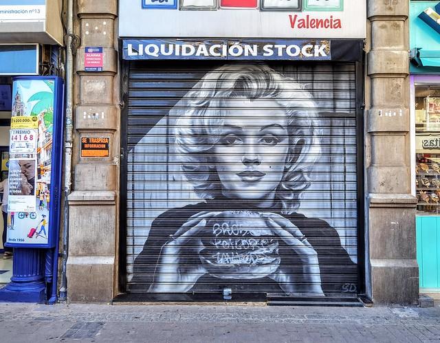 Photo:Marilyn Monroe en Valencia - Arte Urbano en Valencia - Museo Abierto 24 horas y 365 días al año By Antonio Marín Segovia