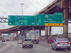 I-35E South at Loop 12 Exit, 28 Dec 2019