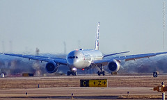 American 787 landing at DFW Airport, 29 Dec 2019