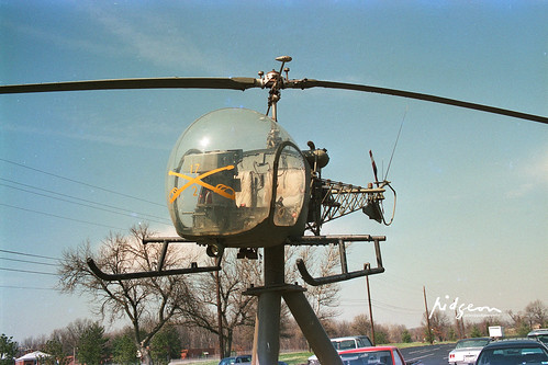 Vietnam War Bell 47 helicopter, Patton Mueum of Cavalry & Armour, Fort Knox, KY