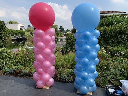 Ballonpilaar Breed Rond Babyshower