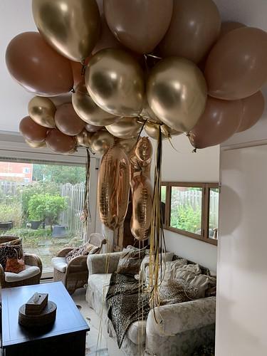 Heliumballonnen Chrome Goud Mocha