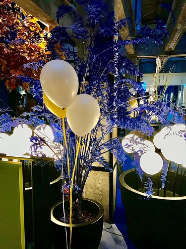 Tafeldecoratie 3ballonnen Room Mate Hotel Bruno Rotterdam