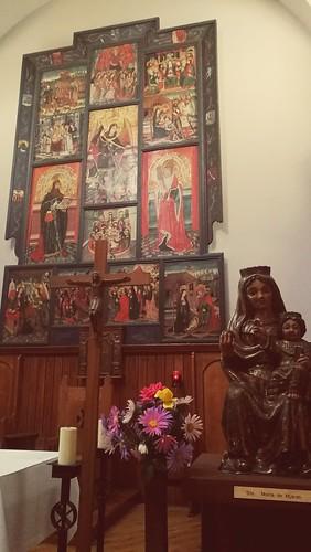 retaule i talla de santa Maria de Mijaran