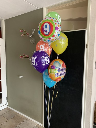 Ballonboeket Verjaardag 9 Jaar