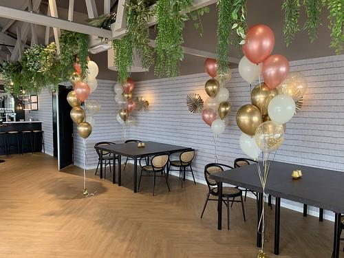 Tafeldecoratie 10ballonnen Gronddecoratie Paviljoen De Duinrand Oostvoorne