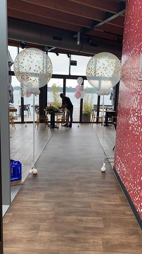 Cloudbuster Rond met Confetti Print Restaurant De Tuin van de Vier Windstreken Rotterdam