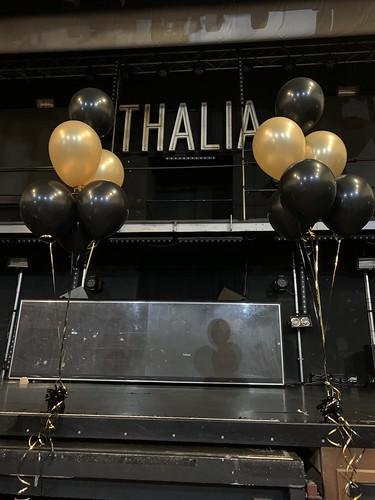 Tafeldecoratie 6ballonnen Villa Thalia Rotterdam