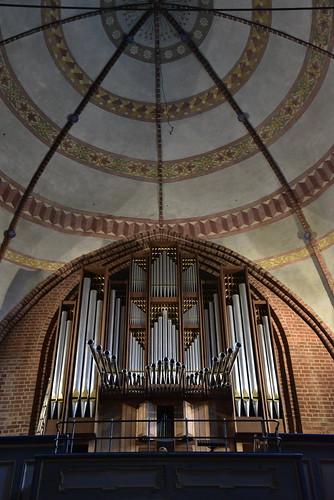 Johannes-Kirche - Hauptschiff, Blick zur Orgel; Meldorf, Dithmarschen (27)