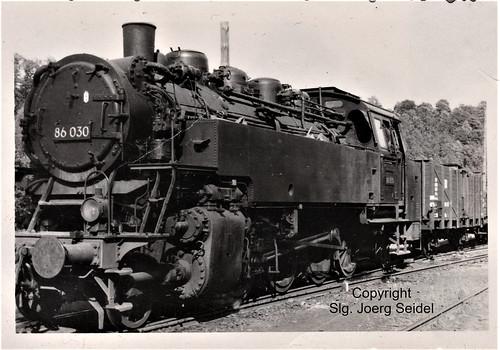 DE-09648 Mittweida Deutsche Reichsbahn Industriebahn  Dampflok 86 030 um 1960
