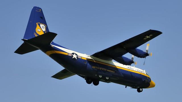Photo:Fat Albert - Blue Angels support plane - US Marines Lockheed C-130T Hercules - Toronto Pearson By edk7