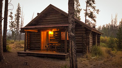 Early morning at Fishhook Cabin 34