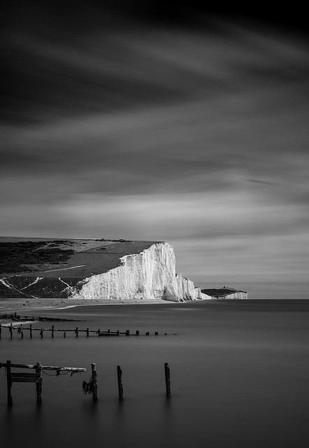 The Seven Sisters in InfraRed from Cuckmere Haven