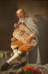 """""""Le Vielleur"""" de Georges de La Tour (Musée d'arts de Nantes)"""