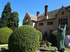 Adelaide. Springfield. Eastern facade of Carrick Hill mansion built in 1939  in the style of an ELizabethan mansion. Built for the Haywood family. Bequeathed to the state of South Australia in 1983.