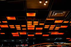 Squares with Orange Lighting