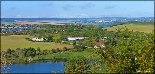 Blick vom Kreisberg / Kelterberg über den Bindersee nach Seeburg