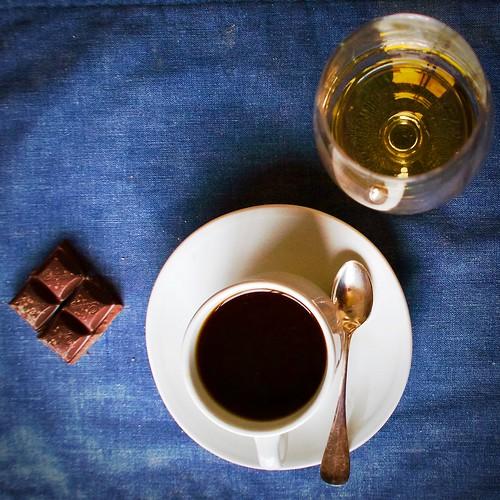 Carré de Chocolat (avec café et Armagnac)