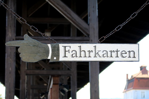 SDG Weißeritztalbahn: Hinweisschild im Bahnhof Dippoldiswalde
