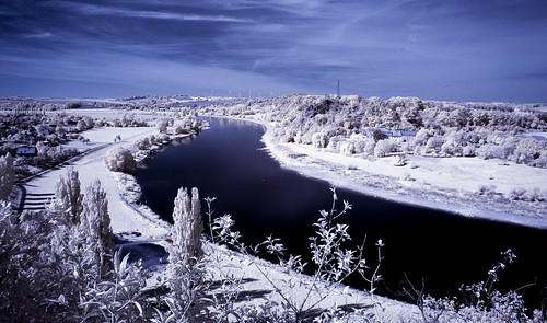 `schöne Aussicht` über die Elbe bei Löbsal in IR