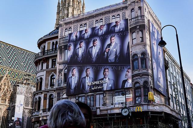 George Clooney on Stephansplatz